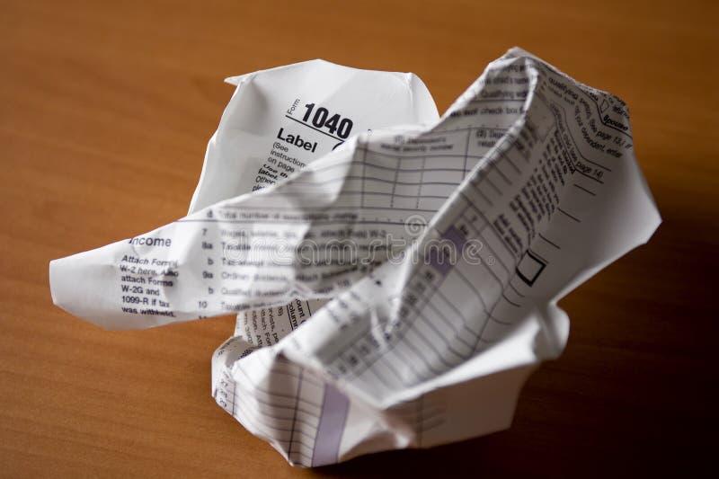 El IRS forma 1040 imagen de archivo libre de regalías