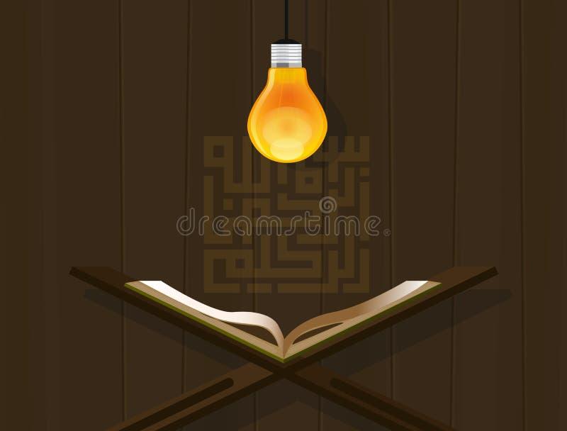 El Islam leyó el kareem Mubarak del Ramadán del koran del bulbo del quran libre illustration
