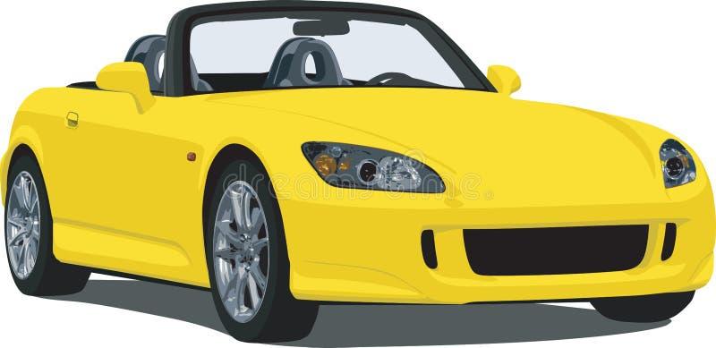 El japonés se divierte al automóvil descubierto stock de ilustración