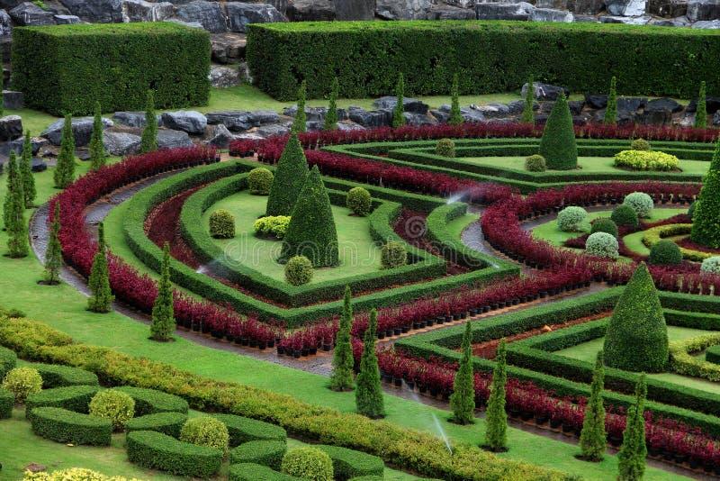 El jardín de Nong Nooch en Vietnam imagen de archivo