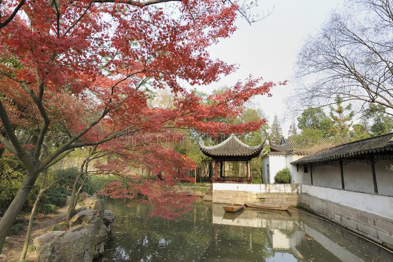 El jardín del administrador humilde, Suzhou, China fotos de archivo