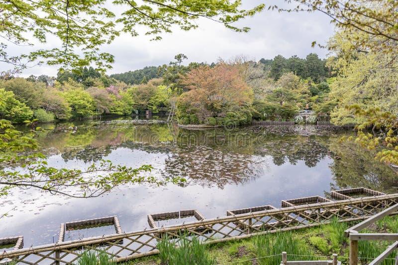 El jardín hermoso del templo de Ryoan-ji, Kyoto, Japón imágenes de archivo libres de regalías