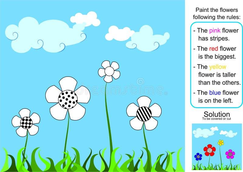 El jardín - pintura por reglas libre illustration