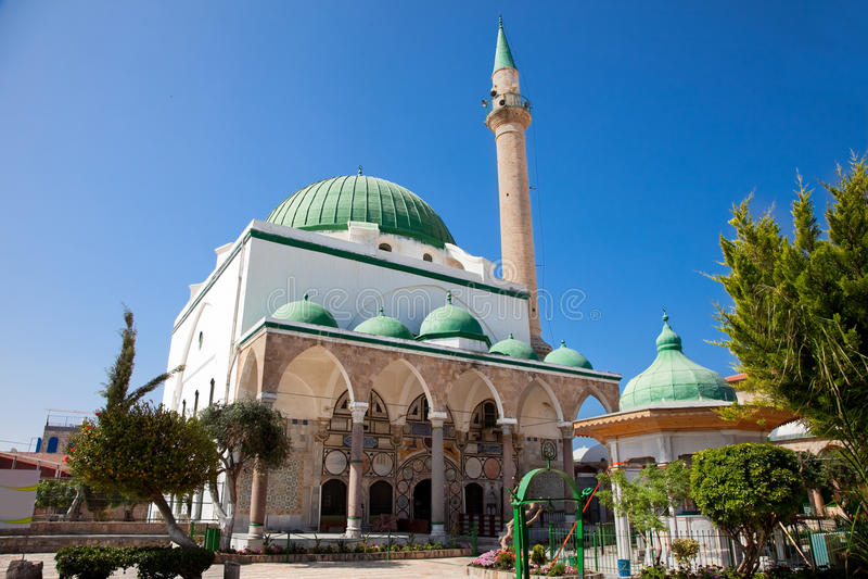 EL-Jazzar mesquita em Akko, Israel. fotos de stock