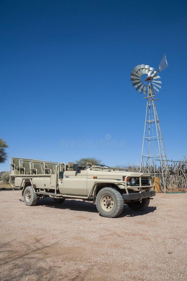 El jeep del safari fotografía de archivo