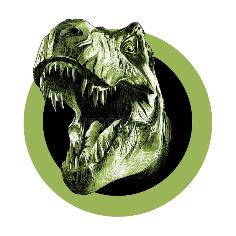 El jefe del tiranosaurio stock de ilustración