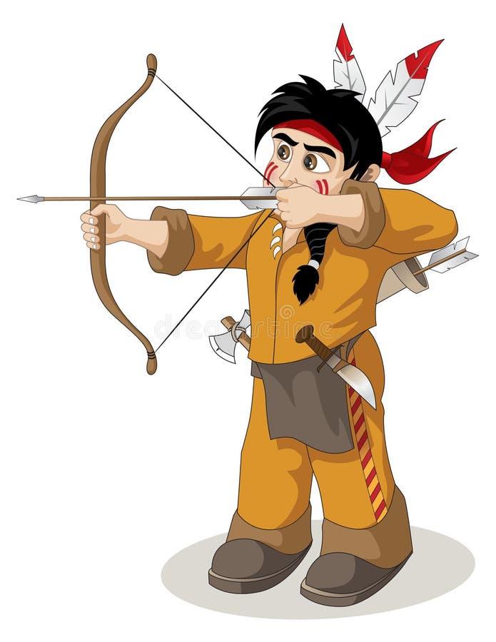 El jefe indio joven libre illustration