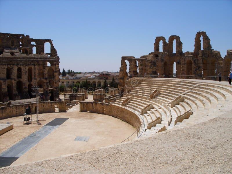 EL Jem Amphitheatre Tunisia fotografia stock libera da diritti