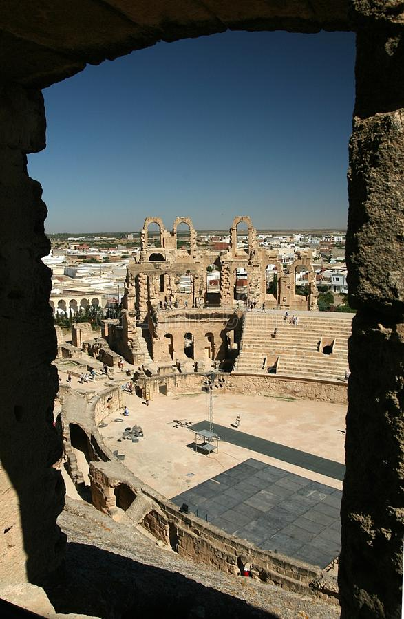 Download El-Jem coloseum stock image. Image of tunisia, monument - 20800985