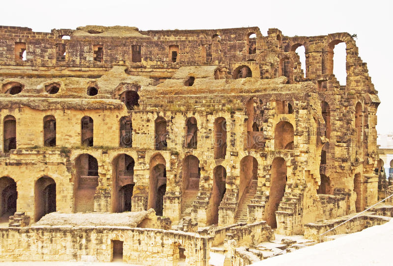 EL Jem Colosseum, Tunisia fotografie stock