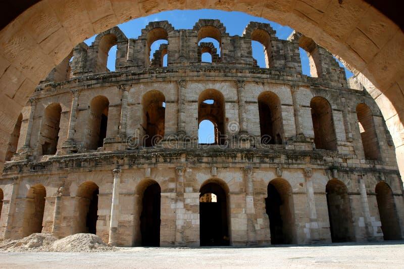EL Jem en Tunisie photo stock