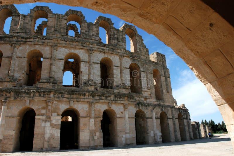 El Jem in Tunisia stock photo