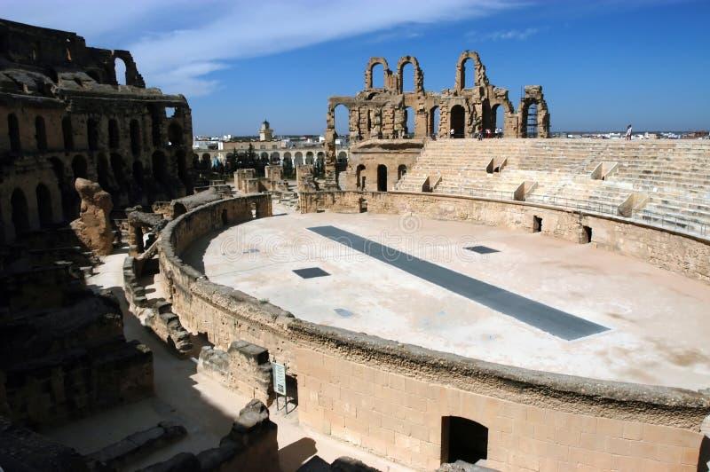 El Jem in Tunisia royalty free stock photo