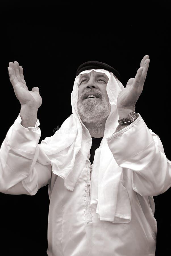 El jeque Praying foto de archivo libre de regalías