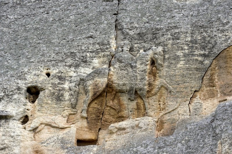 El jinete de Madara imagenes de archivo