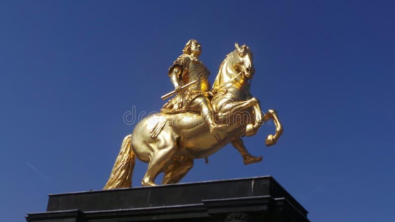 El jinete de oro imagen de archivo libre de regalías