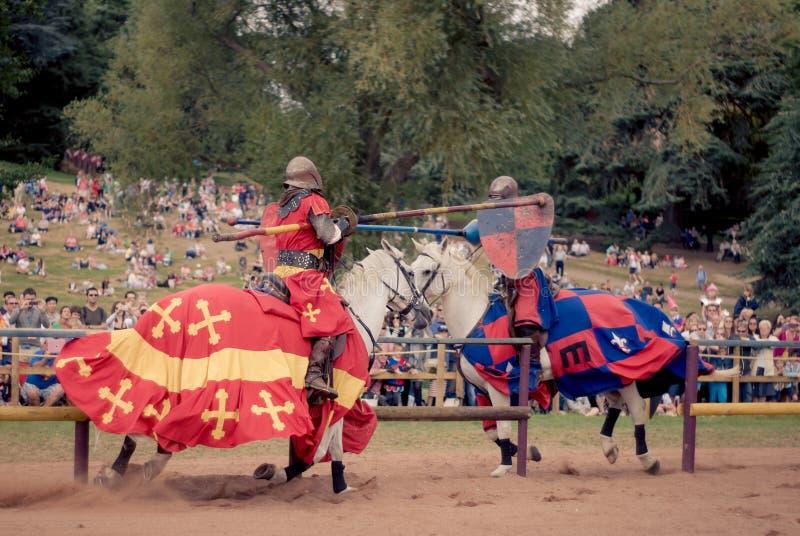 El Jousting en Warwick Castle fotografía de archivo