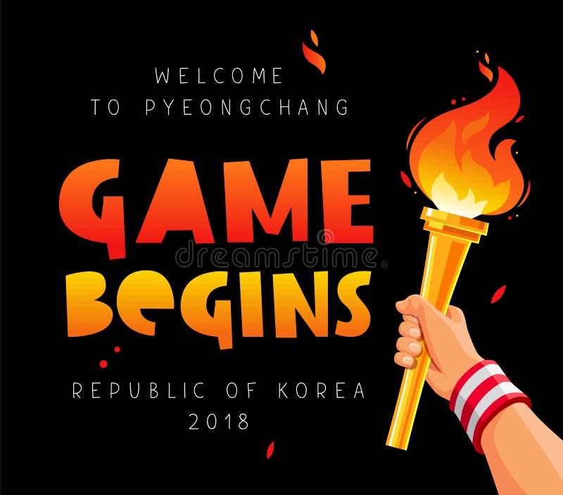 El juego comienza Recepción a Pyeongchang libre illustration
