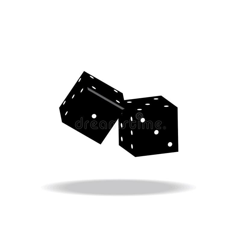 El juego corta el ejemplo del vector en cuadritos en el fondo blanco imágenes de archivo libres de regalías