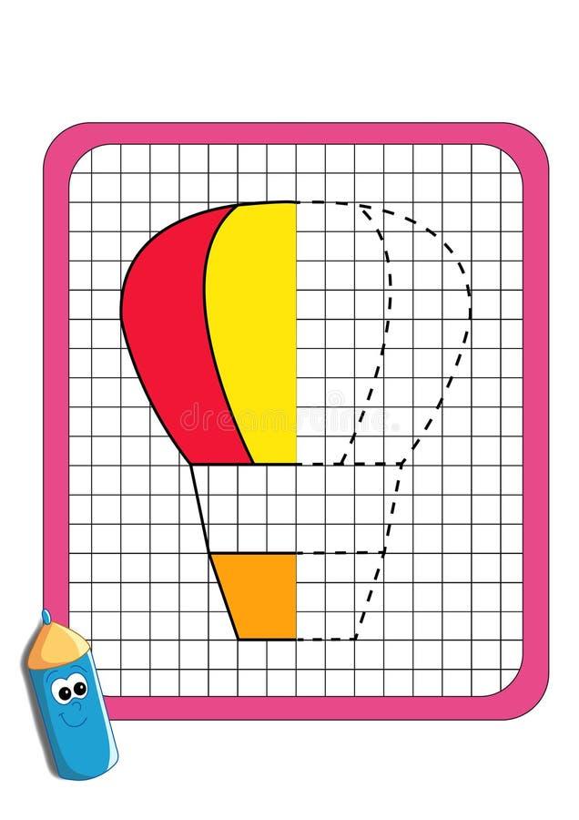 El juego de la simetría, globo de aire caliente imagen de archivo