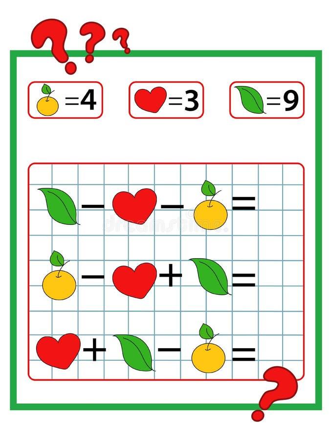 El juego de las matemáticas fotos de archivo