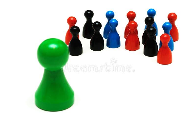El juego de los pares figura diversa opinión fotografía de archivo libre de regalías