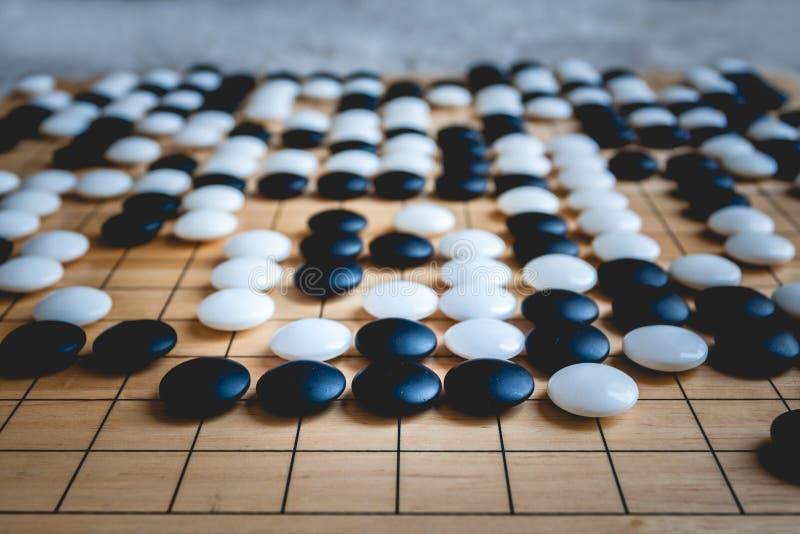 El juego de mesa va o de Weiqi imagen de archivo libre de regalías
