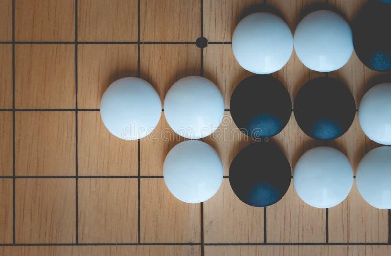 El juego de mesa va o de Weiqi imagen de archivo
