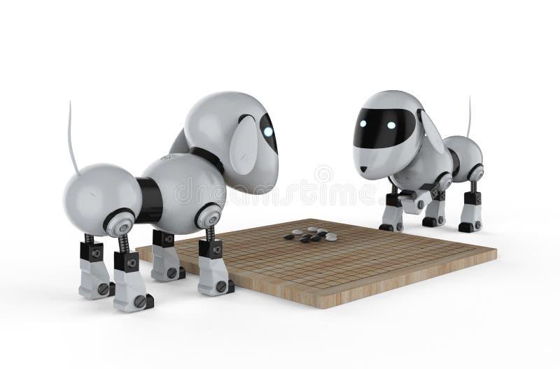 El juego del robot del perro va