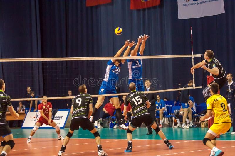 El juego del voleibol, imagen de archivo