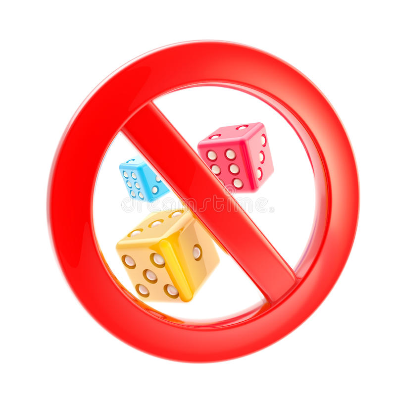 El juego se prohibe la muestra prohibida libre illustration