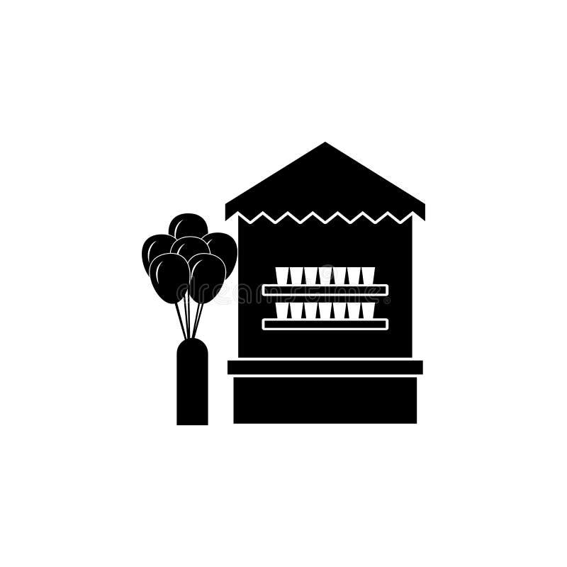 el juego tira abajo el icono de las tazas del plástico Apps del concepto y del web del parque de atracciones de los elementos Ico ilustración del vector
