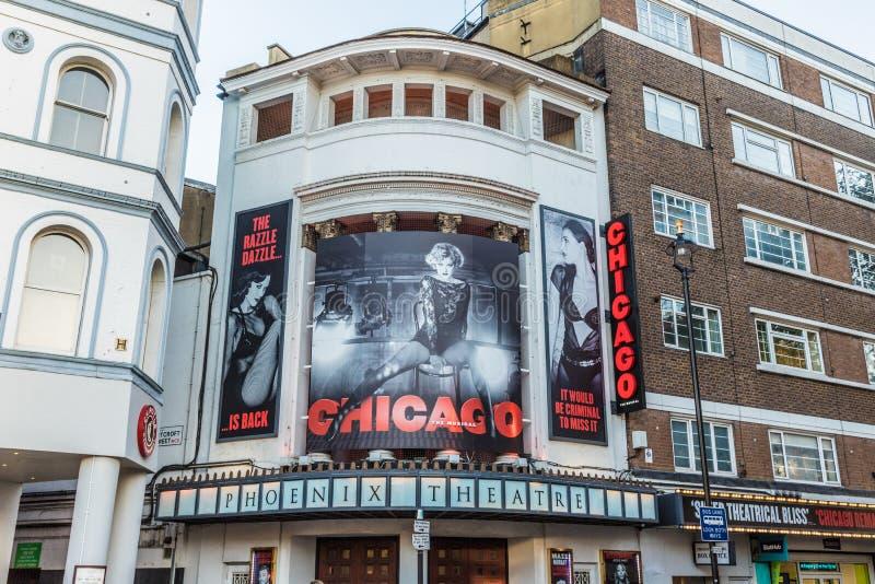 El juego y el teatro de Chicago en Londres fotos de archivo libres de regalías