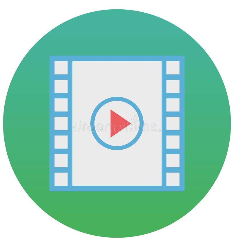 el jugador de película aisló el icono del vector que puede estar fácilmente corrige o se modificó stock de ilustración