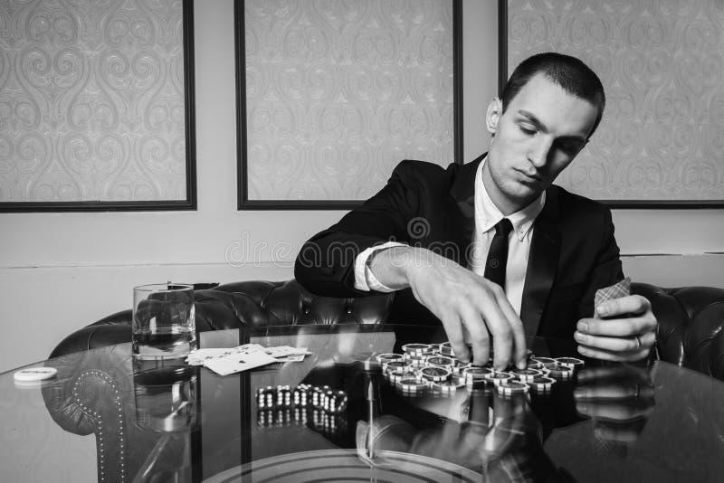 El jugador en póker fotografía de archivo