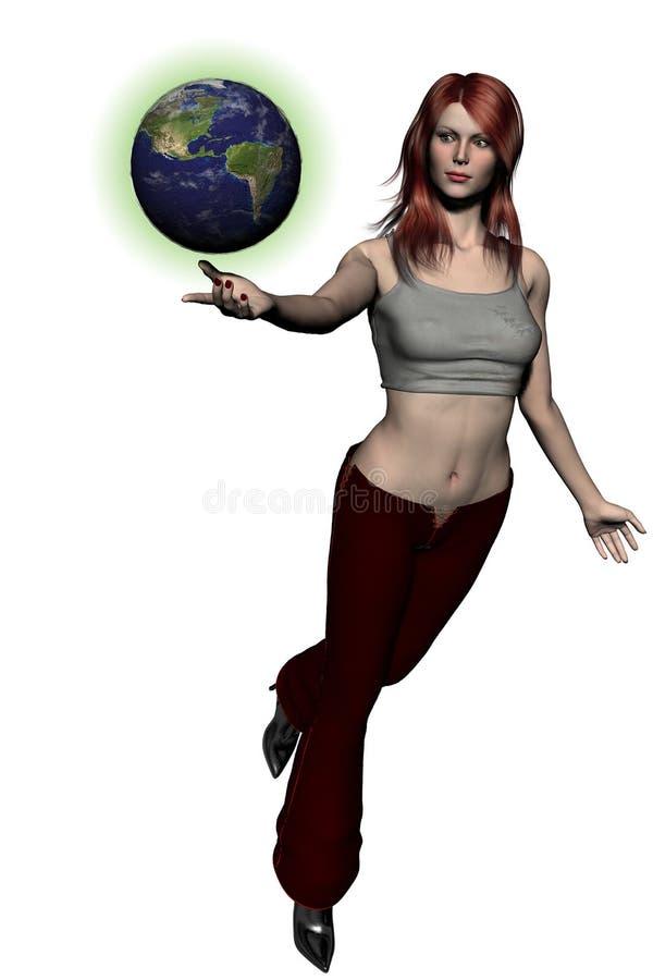 El jugar con el mundo 02 stock de ilustración