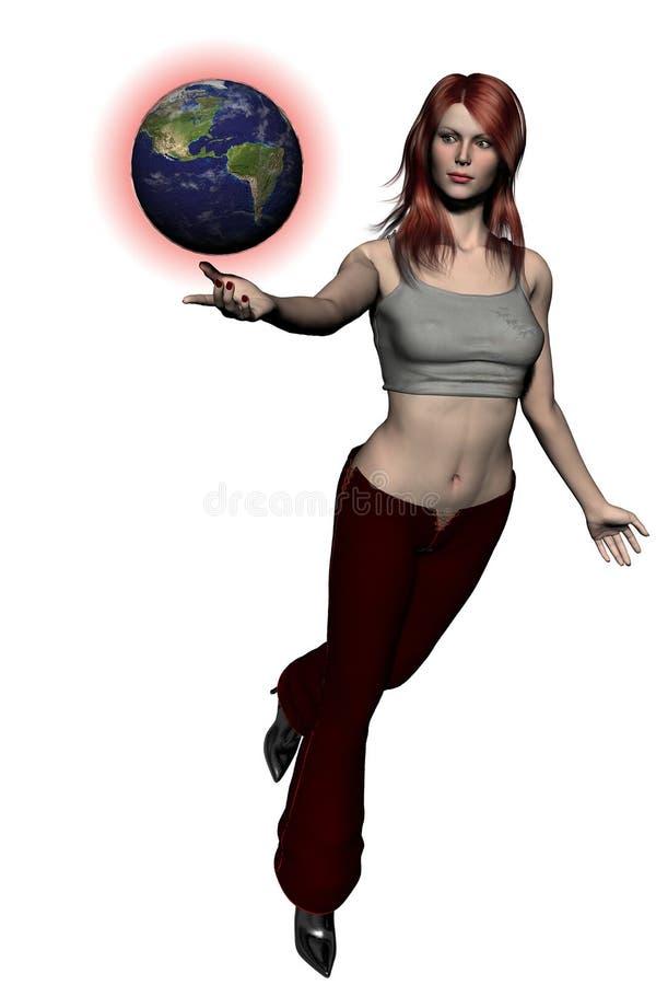 El jugar con el mundo 03 ilustración del vector
