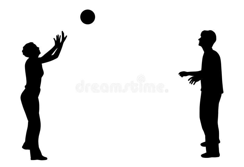 El jugar con la bola ilustración del vector