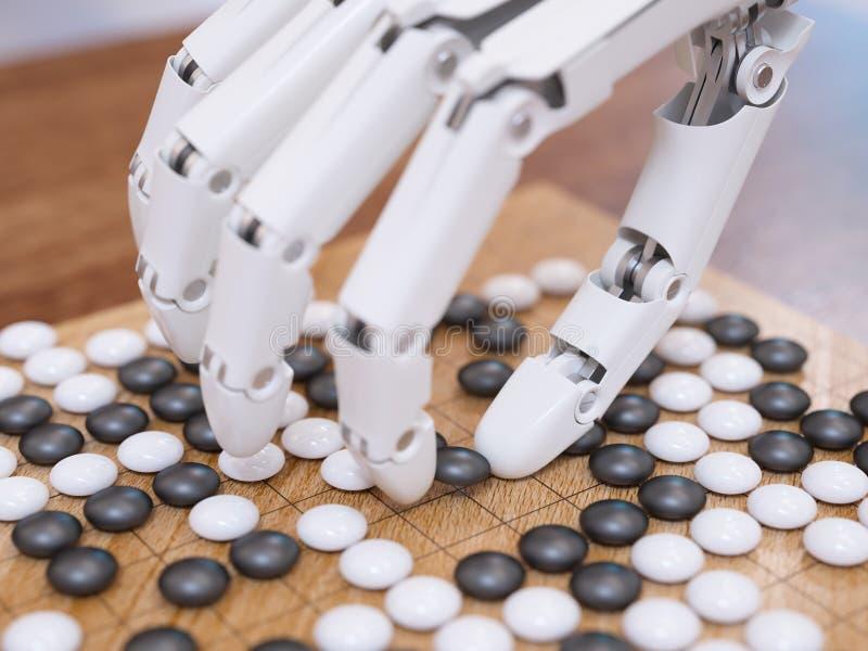 El jugar de la inteligencia artificial va foto de archivo