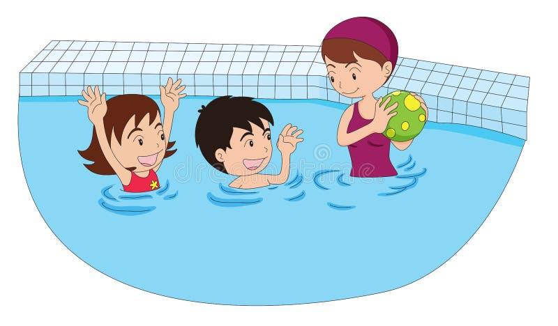 El jugar en la piscina stock de ilustraci n ilustraci n for Fotos follando en la piscina