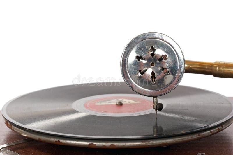 El jugar pasado de moda del gramófono imágenes de archivo libres de regalías