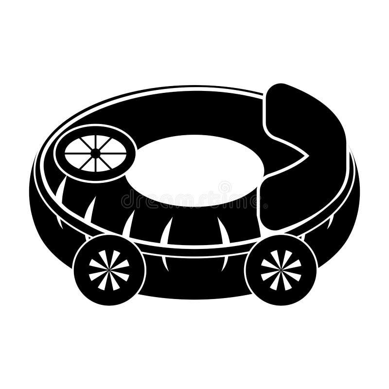 El juguete aislado del coche form? el flotador de la piscina libre illustration