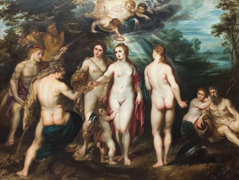 El juicio de París, pintando por Peter Paul Rubens imágenes de archivo libres de regalías