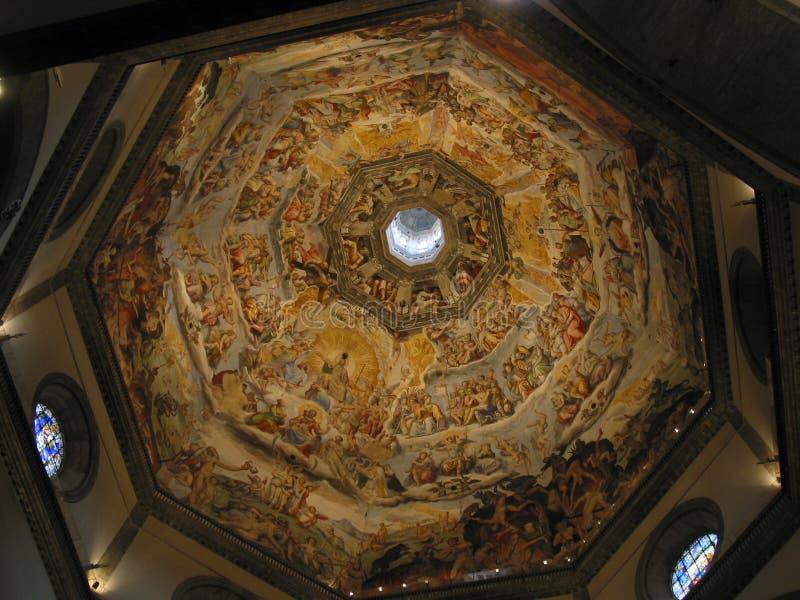 El juicio pasado en la bóveda del Duomo, Florencia, Italia imagen de archivo libre de regalías