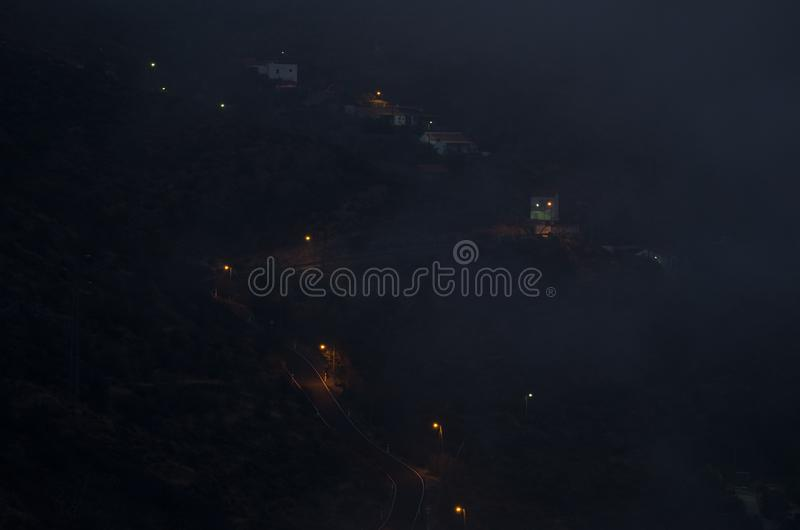 El Juncal at sunset in the fog. The Nublo Rural Park. Tejeda. Gran Canaria. Canary Islands. Spain stock photos