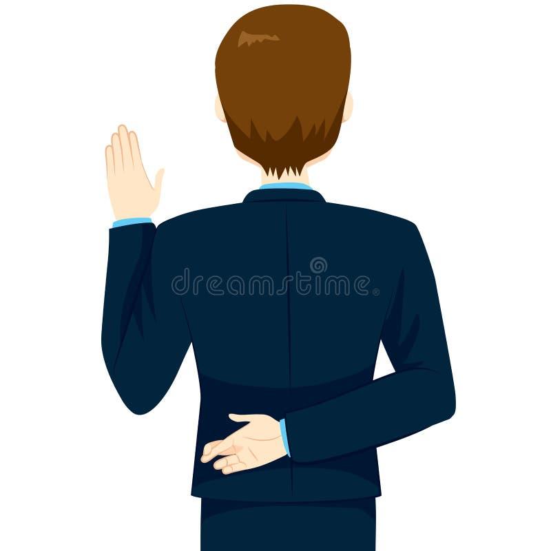 El jurar con los fingeres cruzados libre illustration