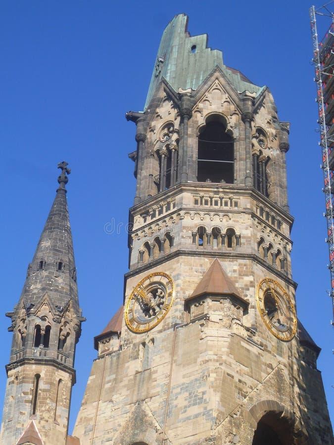 El Kaiser Wilhelm Memorial Church en Berlín foto de archivo libre de regalías