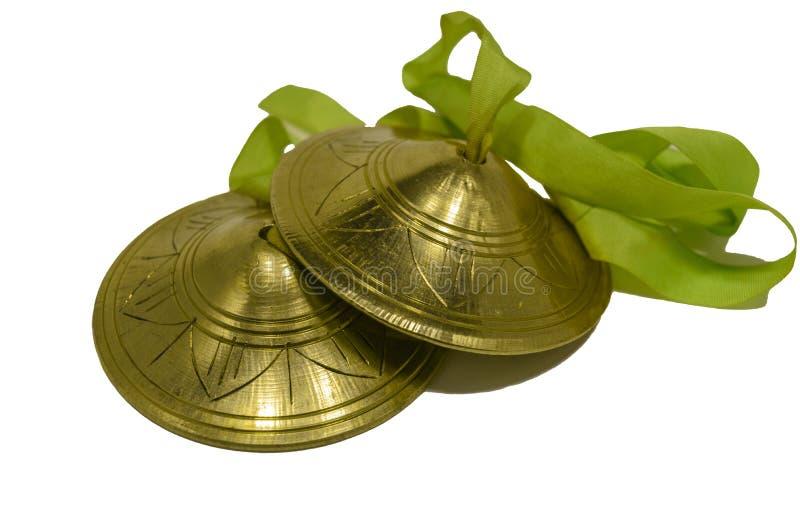 El Karatal Instrumento musical indio Aislado imágenes de archivo libres de regalías