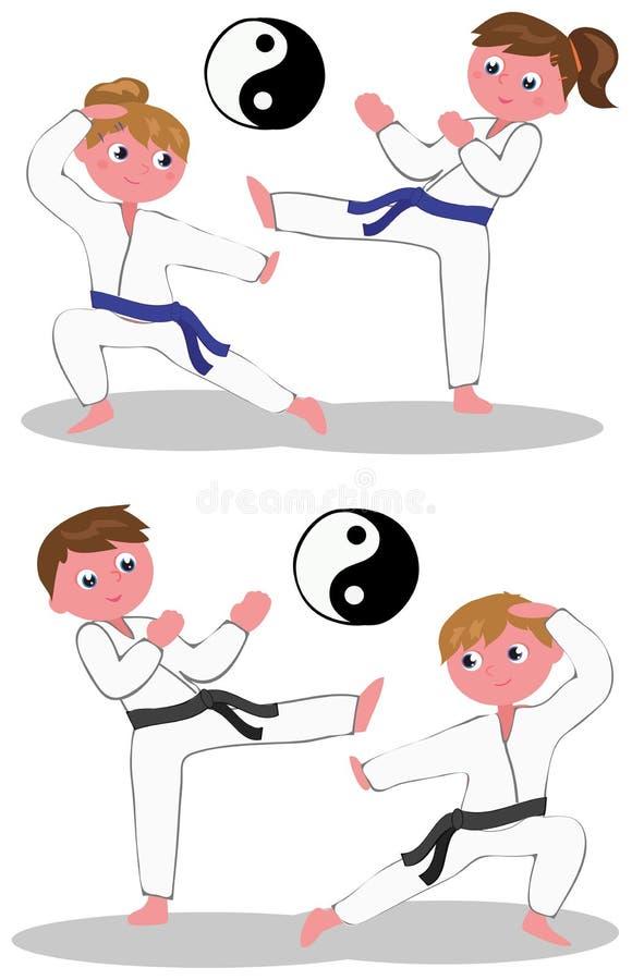 El karate embroma vector stock de ilustración