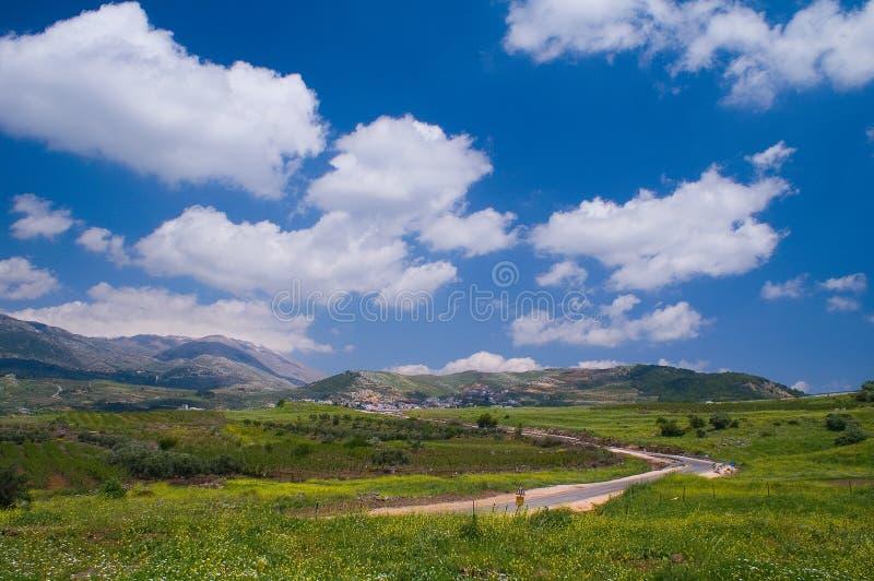 Download EL Kinya Und Montierung Hermon Stockfoto - Bild von landschaft, golan: 9077982